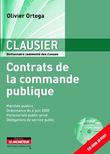9782281128451: le clausier - contrats commande publique + cd