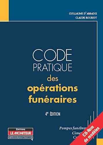 9782281128772: CODE DES OPERATIONS FUNERAIRES