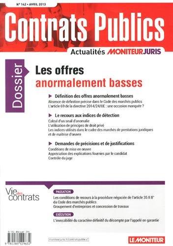 9782281129632: Contrats publics, N° 142, Avril 2014 : Les offres anormalement basses