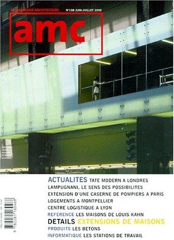 Moniteur architecture AMC, numéro 108, juin 2000