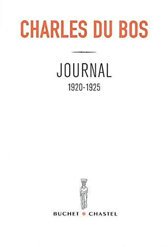 Journal 1920-1952: Du Bos, Charles