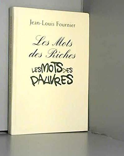 9782286057701: LES MOTS des RICHES - LES MOTS des PAUVRES