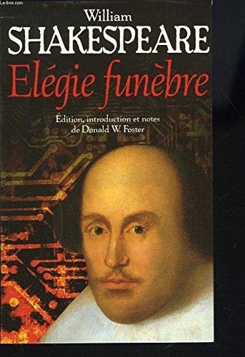Elégie funèbre: William Shakespeare