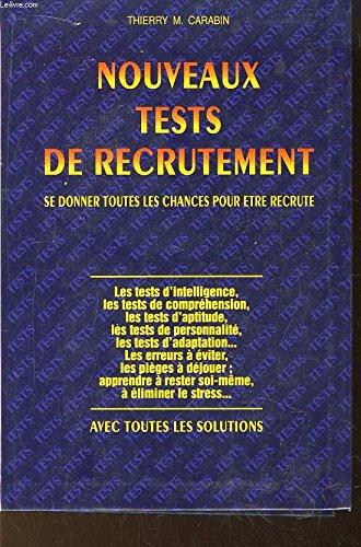 9782286141325: Nouveaux tests de recrutement. éd . 1999