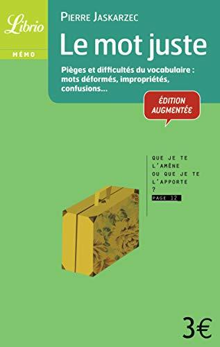9782290030110: Librio: Le MOT Juste (French Edition)