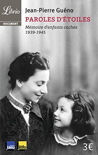 9782290038628: Paroles d'étoiles : Mémoire d'enfants cachés (1939-1945) (Librio Document)