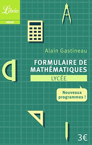 9782290108789: Formulaire de mathématiques Lycée : Nouveaux programmes