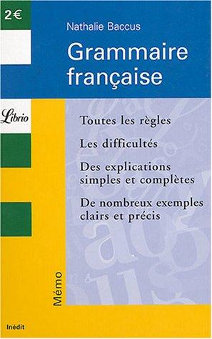 9782290338858: Grammaire française (Librio Mémo)