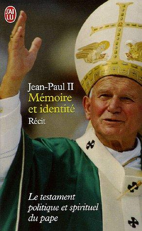 9782290350409: Memoire ET Identite (French Edition)