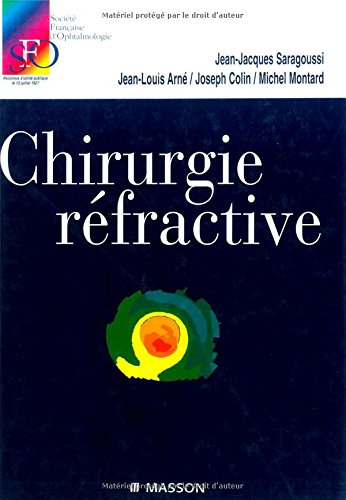 9782294005190: Chirurgie refractive rapport sfo 2001 (French Edition)