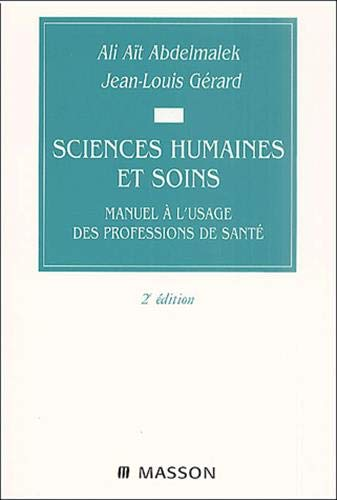 Sciences humaines et soins 2 ?dition: Collectif