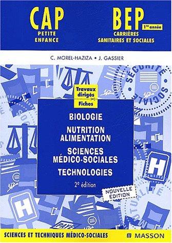 9782294008184: Travaux dirigés : Biologie, nutrition-alimentation, sciences médico-sociales, technologies 1e année (bleu)