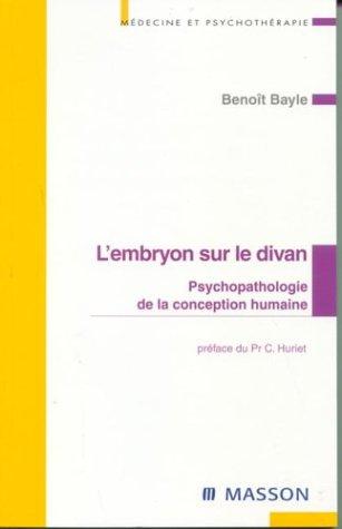 9782294008528: L'embryon sur le divan (Médecine et psychothérapie)