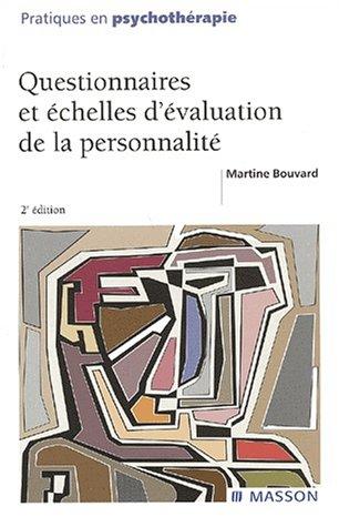 9782294008559: Questionnaires et échelles d'évaluation de la personnalité. 2ème édition