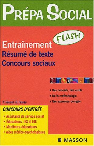 9782294013171: Entraînement Résumé de texte Concours sociaux