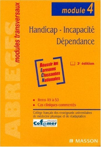 9782294018992: Handicap - Incapacité - Dépendance (module 4)