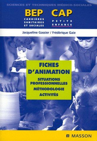 9782294020841: Fiches d'animation : Situations professionnelles, m�thodologie, activit�s