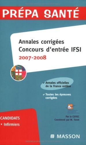 9782294701832: Annales corrig�es Concours d'entr�e IFSI