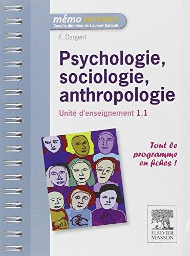 9782294716478: Psychologie, sociologie, anthropologie - UE 1.1