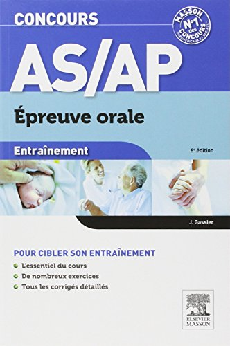 9782294727870: Concours AS/AP �preuve orale Entra�nement