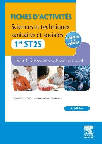 9782294729454: Fiches d'activités Sciences et techniques sanitaires et sociales - 1re ST2S (TOME1)