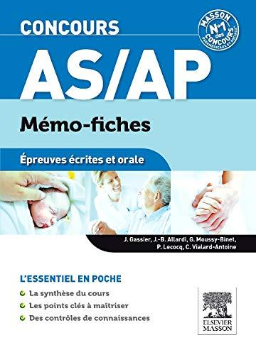 9782294730887: Concours AS/AP : Mémo-fiches épreuves écrites et orale