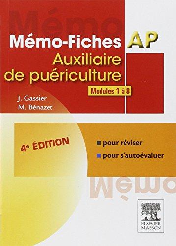 9782294736803: M�mo-fiches AP - Modules 1 � 8: Auxiliaire de pu�riculture