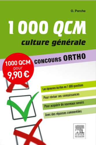 9782294742408: 1000 QCM Culture générale Concours Ortho NP