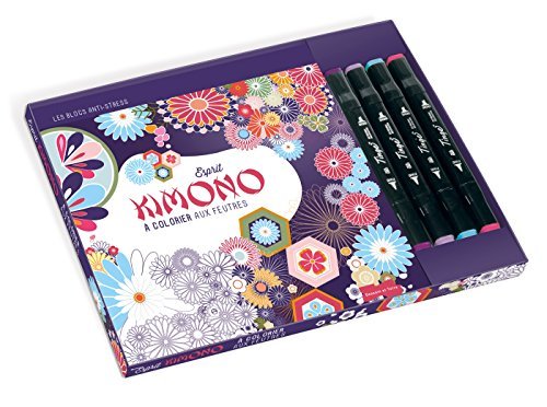 9782295003737: Esprit kimono a colorier aux feutres