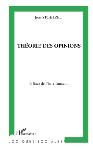 9782296007420: Théorie des opinions (French Edition)