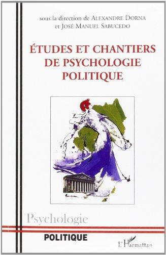 9782296014039: Etudes et chantiers de psychologie politique
