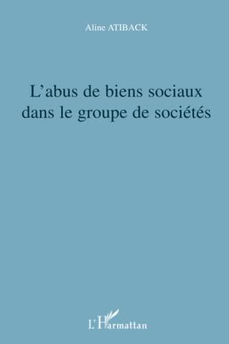 9782296024724: L'abus de biens sociaux dans le groupe de sociétés