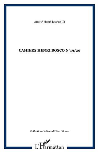 9782296072923: Cahiers henri bosco n 19/20