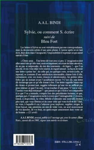 Sylvie Ou Comment S Ecrire Suivi de Bleu Fort: Bindi a a l