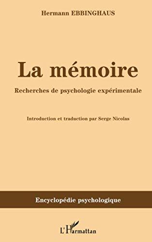 9782296131750: Mémoire Recherches de Psychologie Experimentale
