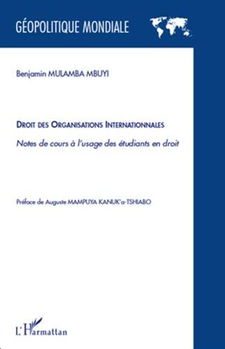 9782296137080: Droit des organisations internationales (French Edition)