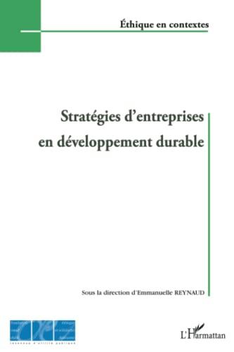 9782296140042: Stratégies d'entreprises en développement durable