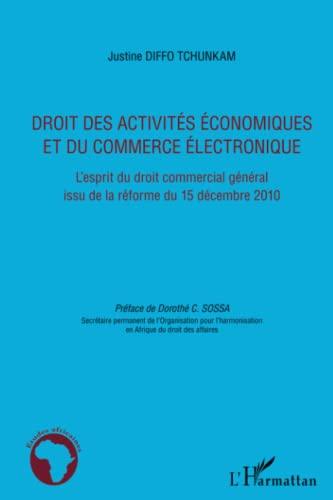 9782296558687: Droit des activites economiques et du commerce électronique l'esprit du droit commercial general iss