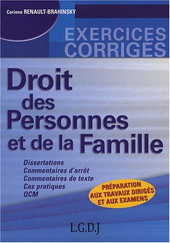 9782297003551: Droit des personnes et de la famille