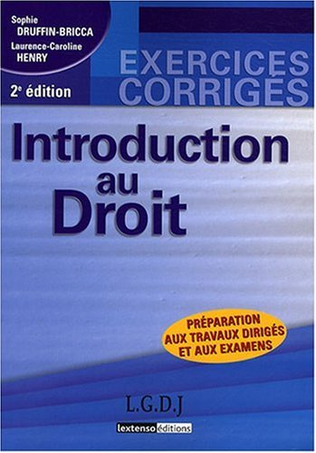 Introduction au droit (French Edition): n/a