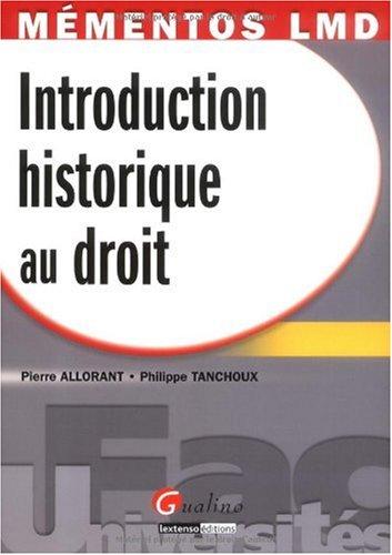 9782297011044: Introduction historique au droit (French Edition)