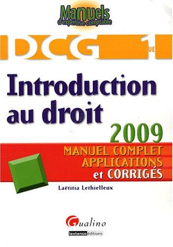 Introduction au droit DCG1 (French Edition): Laëtitia Lethielleux