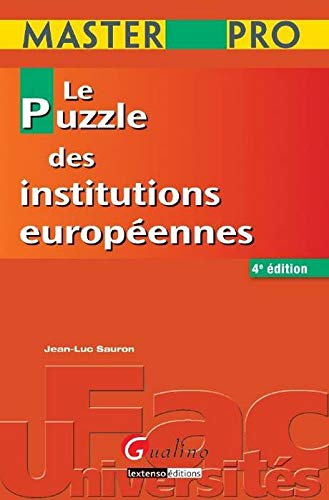 9782297011600: Master Pro - Le puzzle des institutions européennes
