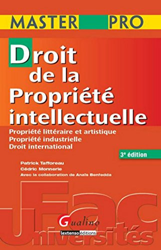 9782297011617: masterpro-droit de la propriete intellectuelle 3eme edition