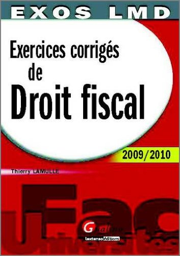 9782297011938: Exercices corrigés de Droit Fiscal
