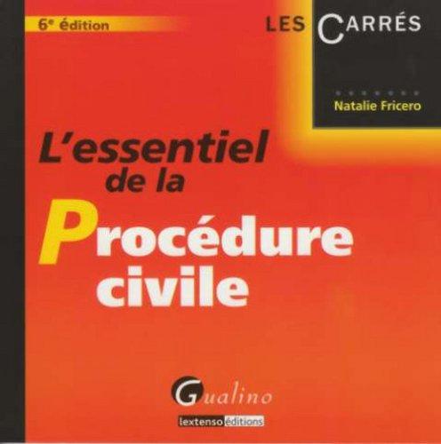 9782297012089: L'Essentiel de la Proc�dure civile