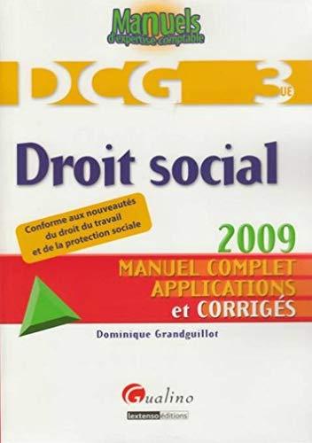 DCG 3 Droit social (French Edition): Dominique Grandguillot