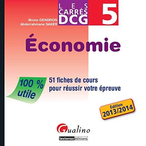 9782297013390: Carrés DCG 5 - Economie