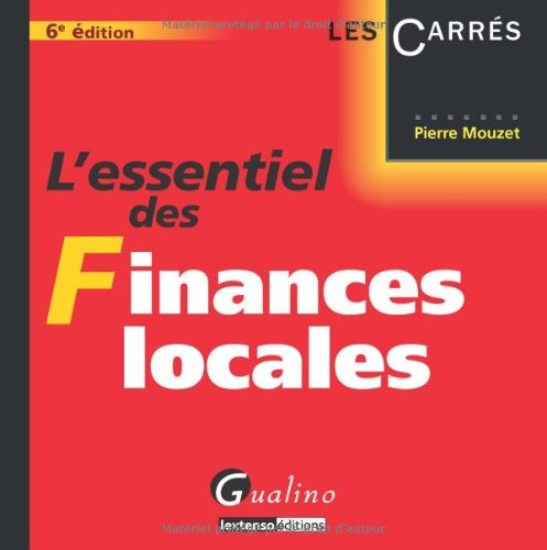 9782297016322: L'essentiel des Finances locales (French Edition)