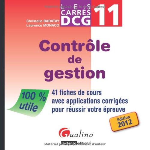 9782297017855: les carrés DCG 11 ; contrôle de gestion